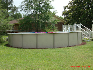 Esprit Harvest 27' round above ground pool
