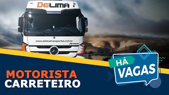 De Lima Soluções abre vagas para Motorista Carreteiro