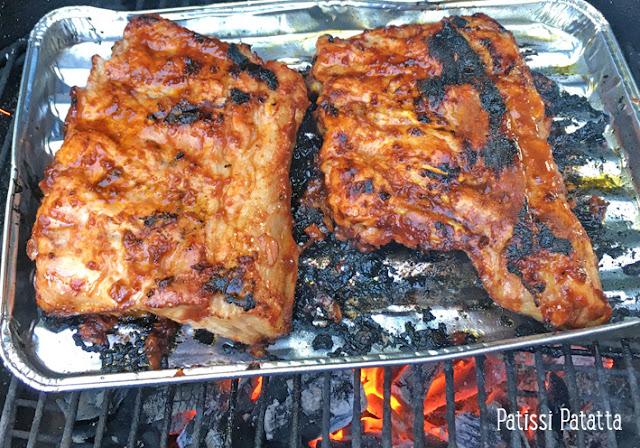 recette de spare ribs BBQ, ribs BBQ, cuisiner au barbecue, travers de porc au barbecue, recette estivale, marinade pour barbecue, marinade pour viandes, travers de porc à l'américaine, patissi-patatta
