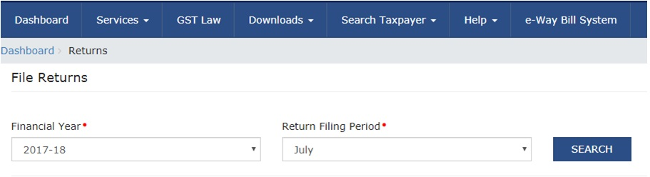 how to login and navigate to GSTR - 1 Page