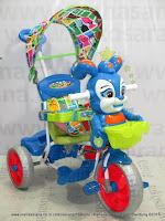 Royal RY19882CJ Baby Roy Dobel Musik Ban Jumbo Jok Kain Sepeda Roda Tiga