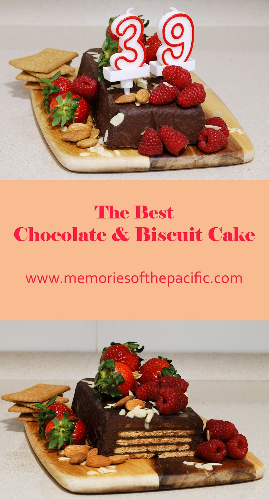 chocolate biscuit birthday cake strawberry berry almonds