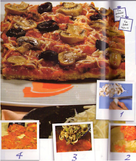 """بيتزا بالفقاع """" الفطر"""""""