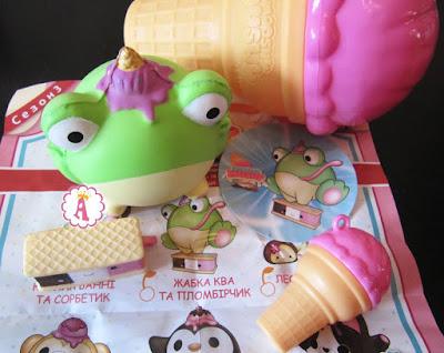 Зеленая игрушка сквиш Ква