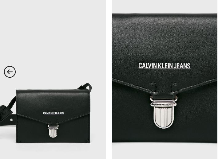 Calvin Klein Jeans - Poseta mica neagra de umar casual cu logo alb