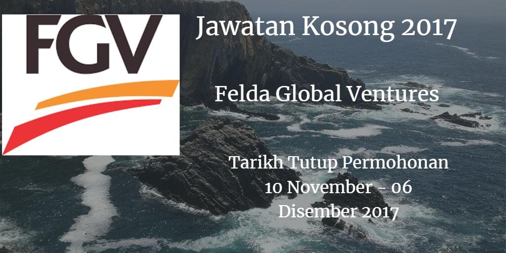 Jawatan Kosong FGV 10 November - 06 Disember 2017