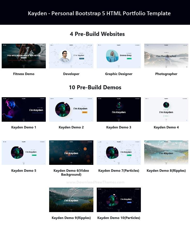 Personal Bootstrap 5 HTML Portfolio Template