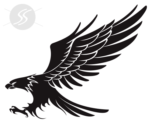 Adesivo decorativo aguia