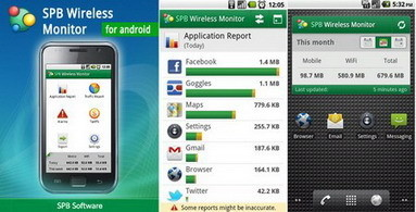 SPB Wireless Monitor for Android lets you identify the most data consuming apps