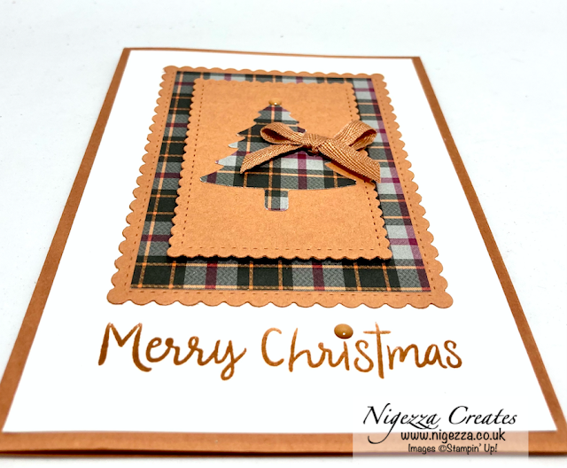 Quick Layered Christmas Card Using Stampin' Up! Products