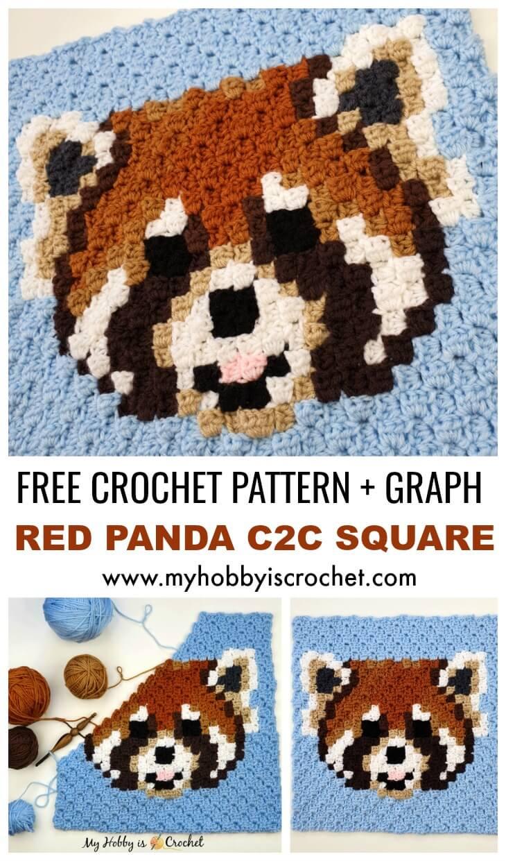 Red Panda C2C Square - Free Pattern