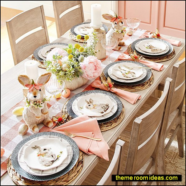 rabbit party bunny rabbit party table decorations rabbit tableware spring garden party