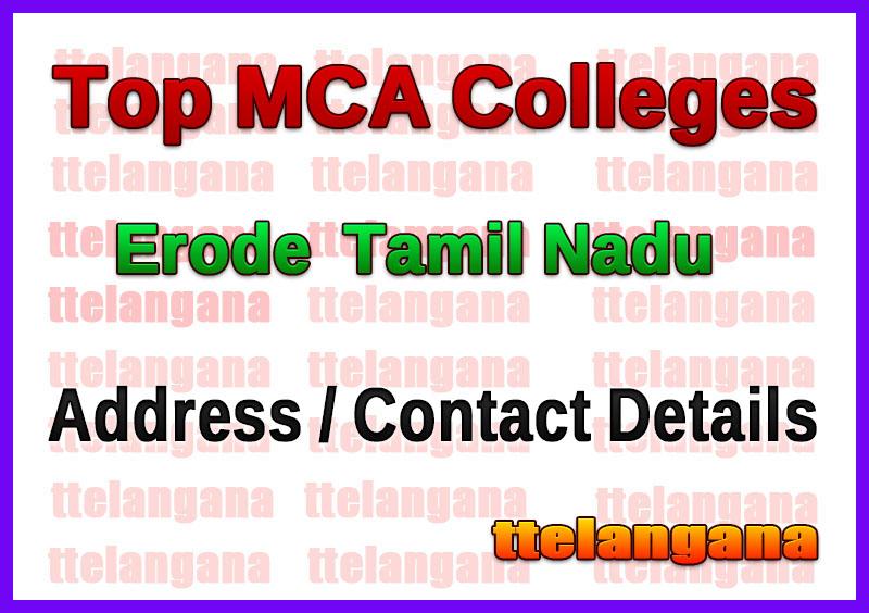 Top MCA Colleges in Erode  Tamil Nadu