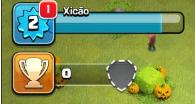 Acessar configurações no Clash of Clans