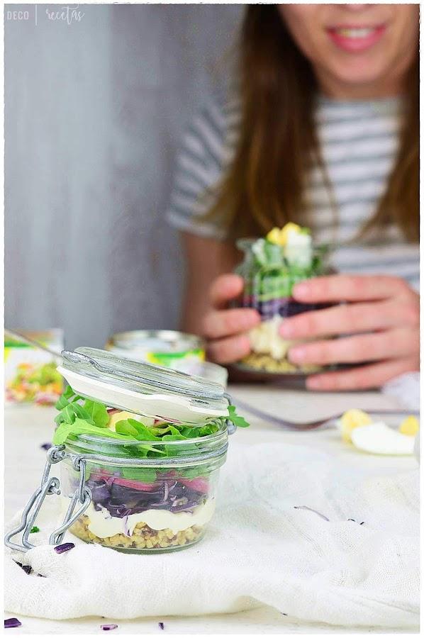 ensalada para llevar al trabajo- recetas de ensaladas para llevar- como preparar recetas prácicas y ligeras para llevar