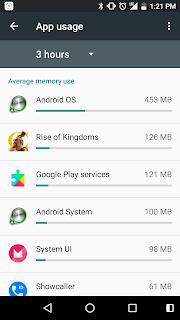 Penggunaan memory di android