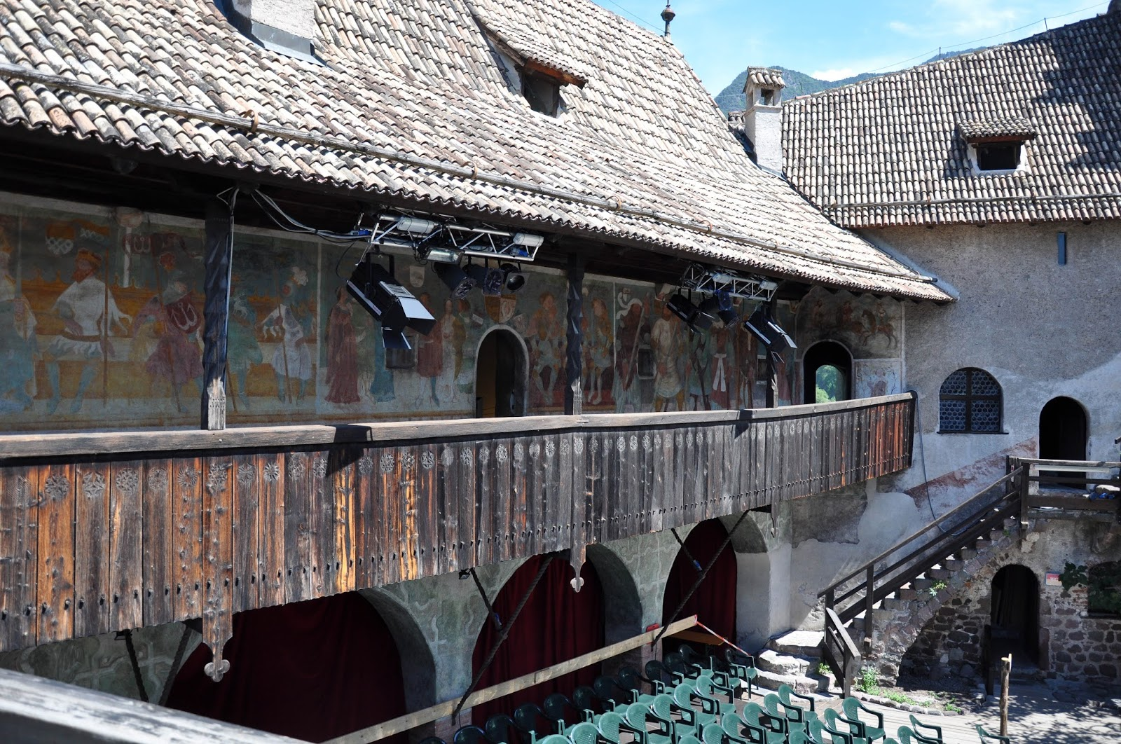 The painted veranda, Runkelstein Castle, Bolzano, South Tyrol, Italy