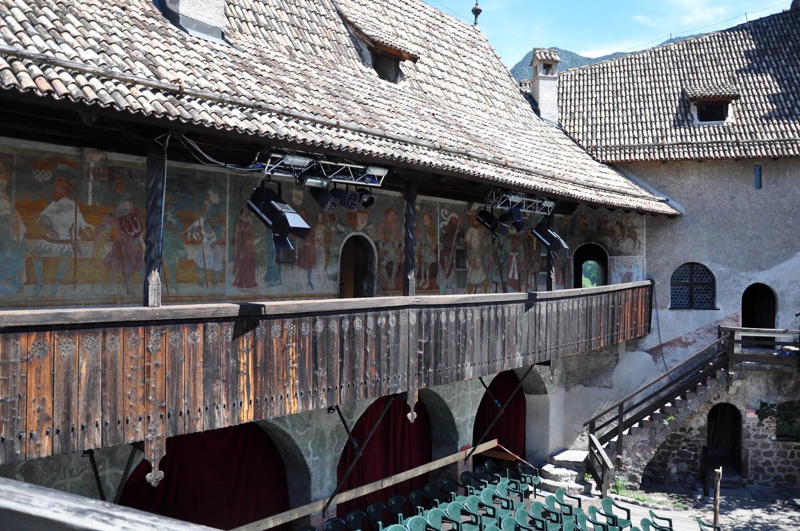 The painted veranda, Runkelstein Castle, Bolzano, South Tyrol, Italy