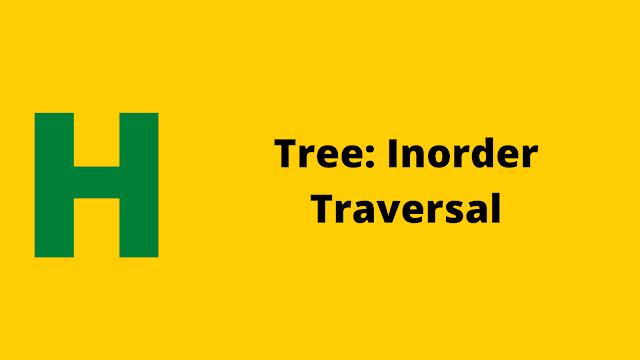 Hackerrank Tree: Inorder Traversal problem solution