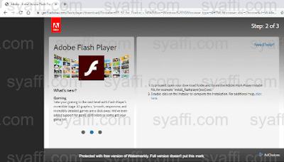 Cara Update Adobe Flash Player pada Windows 10