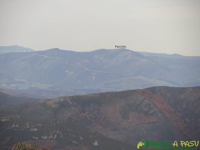 Vista del Panchón desde el Pico Mocoso