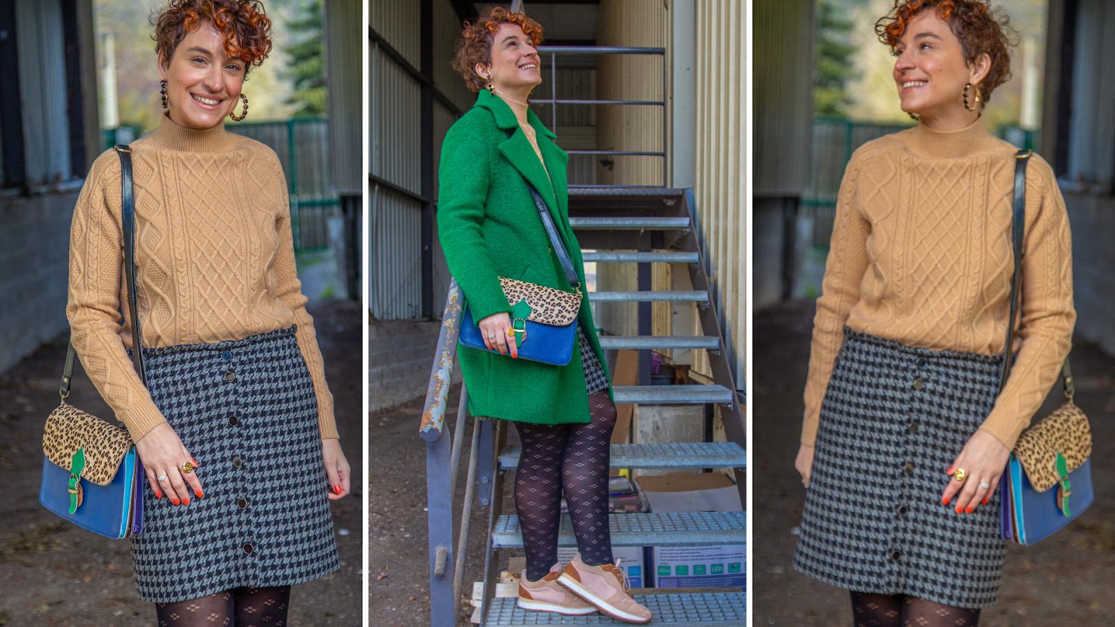 look-casual-jupe-pied-de-coq-promod