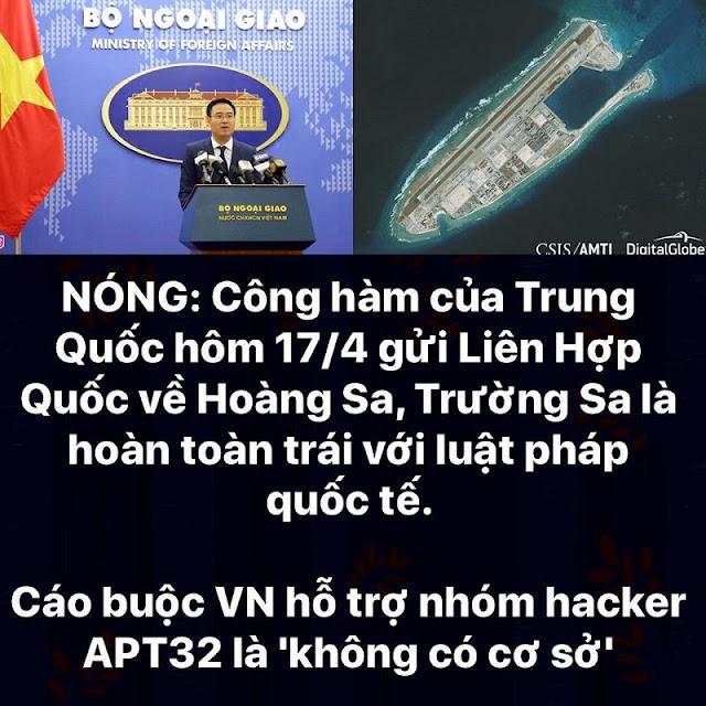 Công hàm về Hoàng Sa và Trường Sa của TQ là trái pháp luật, Việt Nam nên kiện ngược lại?