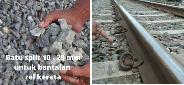 batu split 10-20 mm untuk bantalan rel kereta