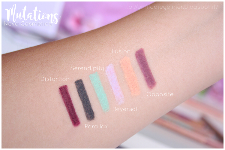 Neve Cosmetics - Mutations: Preview & Swatch