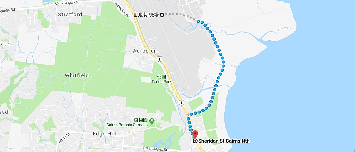 凱恩斯-交通-巴士-公車-機場-市區-接駁-地圖-旅遊-自由行-澳洲-Cairns-Transport-Airport-City-Shuttle-Bus-Map-Travel-Australia