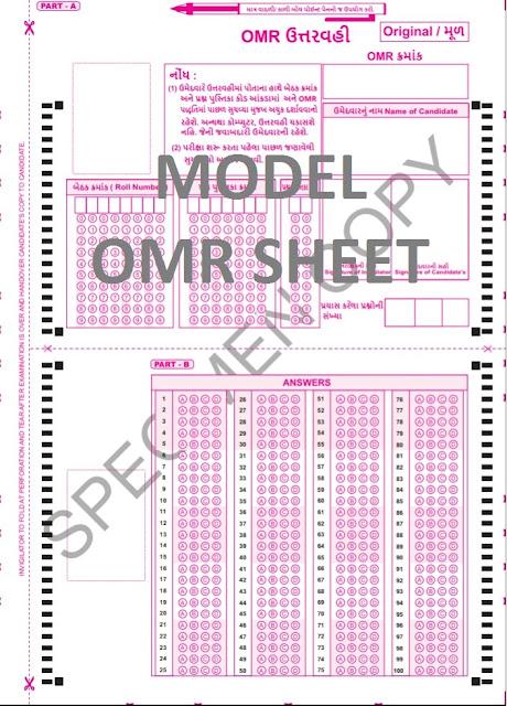 Model of OMR sheet