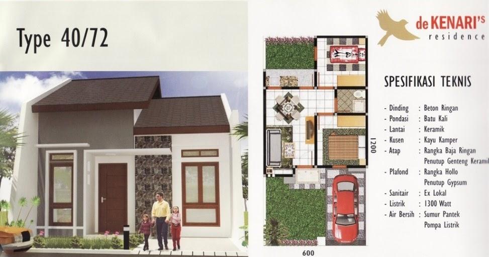 kreasi gambar denah rumah type 40 yang modern