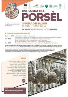 Sagra del Porsèl e Fiera dei Salumi 29 gennaio Ossimo (BS) 2017