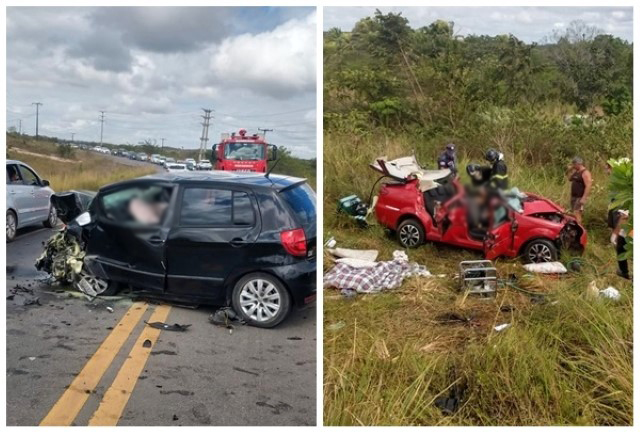 Colisão frontal deixa dois Poçoense mortos e três feridos vindo de Camaçari