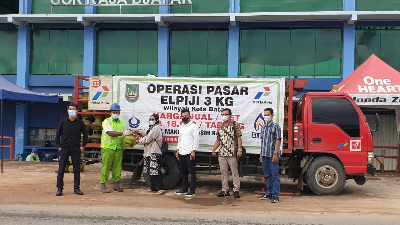 Jelang Lebaran, Disperindag Batam Gelar Operasi Pasar Gas Elpiji