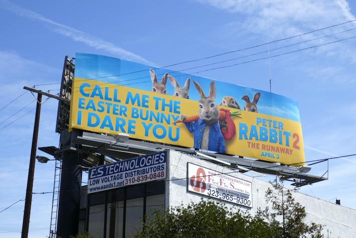 Peter Rabbit 2 Runaway movie billboard