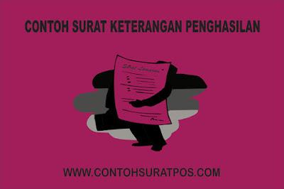 Gambar untuk Contoh Surat Keterangan Penghasilan Orang Tua