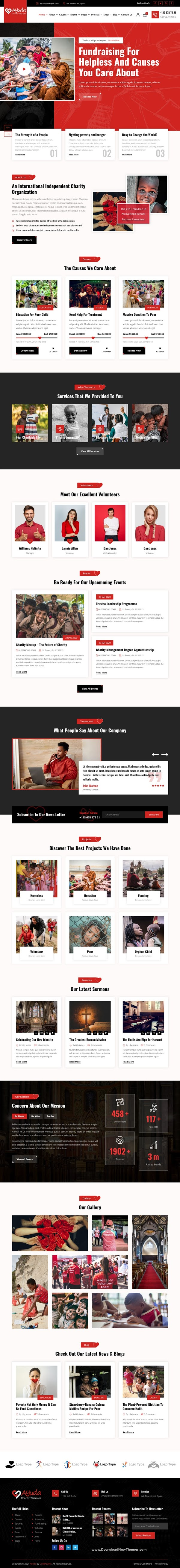 Multipurpose Charity Bootstrap Template