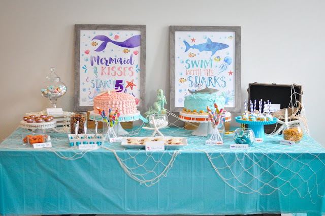 Under the Sea A joint Shark and Mermaid Birthday Party Pretty Real