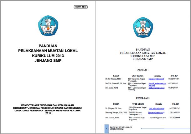 Panduan Pelaksanaan Muatan Lokal Kurikulum 2013 SMP