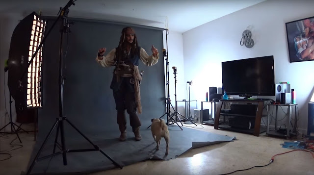 Jack Sparrow Full Costume behind the scenes photoshoot