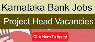 Sarkari Job Alert: Karnataka Bank Recruitment 2020 For Project Head Posts | Sarkari Jobs Adda 2020