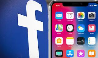 tải facebook cho điện thoại iphone X