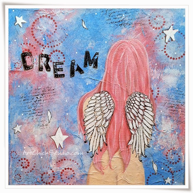 Dream Angel Mixed Media