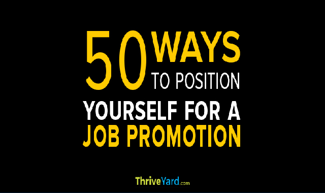 50 Ways To Position Yourself For A Job Promotion #infographic