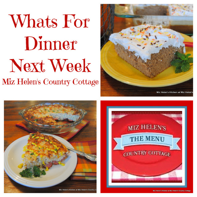 Whats For Dinner Next Week * Week of 10-24-21