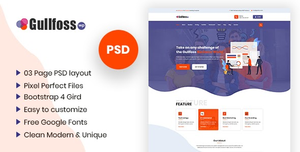 Multipurpose Business PSD Template