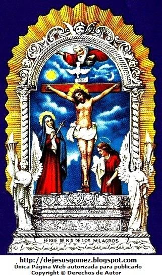 Imagen del Señor de los Milagros a colores para niños de Jesus Gómez