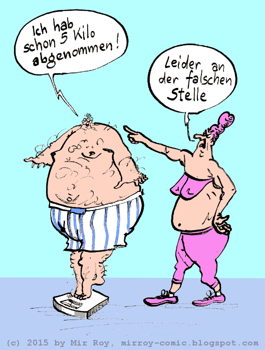 Jokes of lost weight - Späße übers Abnehmen
