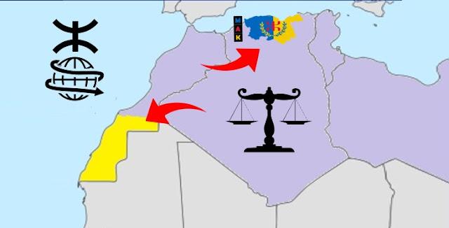 خريطة جمهوية القبائل الصحراء المغربية